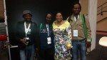 """Enviro-Champs Moses Koloza, Tandanani Luvuno and Ayanda Lipheyane brief Minister of Water Affairs and Sanitation Nomvula Mokonyane about the benefits of citizens becoming the """"Eyes and Ears""""of their communities"""