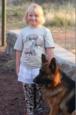 Alyssa and a Sniffer Dog